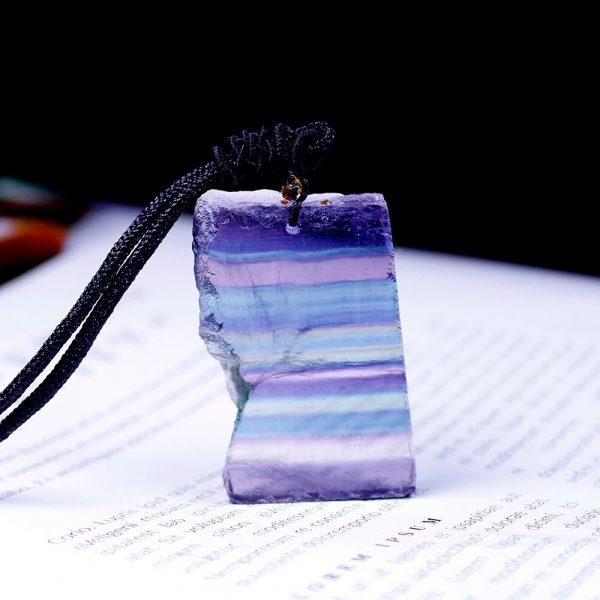 Fluorite pendant necklace